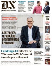 capa Diário de Notícias de 29 outubro 2017