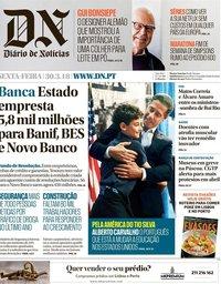 capa Diário de Notícias de 30 março 2018