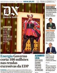 capa Diário de Notícias de 30 abril 2018