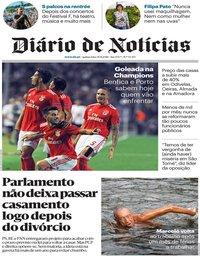 capa Diário de Notícias de 30 agosto 2018