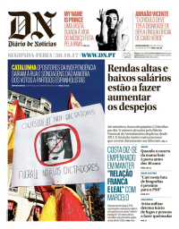 capa Diário de Notícias de 30 outubro 2017