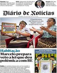 capa Diário de Notícias de 31 julho 2018