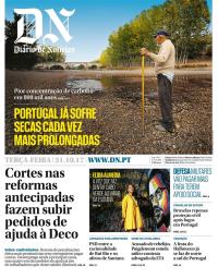 capa Diário de Notícias de 31 outubro 2017