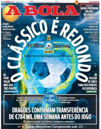 capa Jornal A Bola de 2 março 2018
