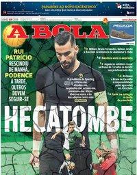 capa Jornal A Bola de 2 junho 2018