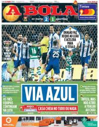 capa Jornal A Bola de 3 março 2018