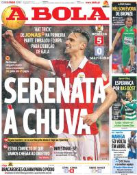 capa Jornal A Bola de 4 março 2018