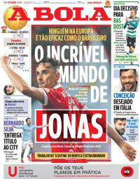 capa Jornal A Bola de 5 março 2018