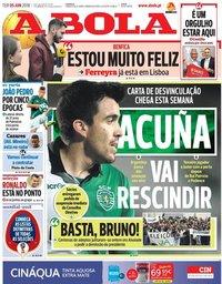 capa Jornal A Bola de 5 junho 2018