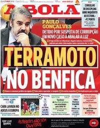 capa Jornal A Bola de 7 março 2018