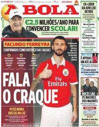 capa Jornal A Bola de 7 junho 2018