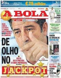 capa Jornal A Bola de 7 agosto 2018
