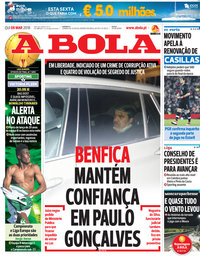 capa Jornal A Bola de 8 março 2018