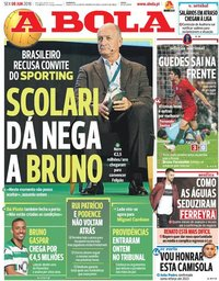 capa Jornal A Bola de 8 junho 2018