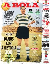 capa Jornal A Bola de 10 março 2018