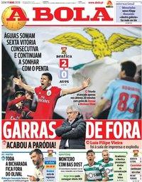 capa Jornal A Bola de 11 março 2018