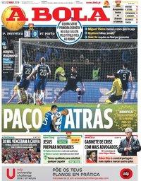 capa Jornal A Bola de 12 março 2018