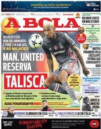 capa Jornal A Bola de 14 março 2018