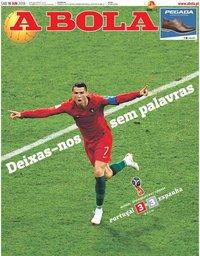 capa Jornal A Bola de 16 junho 2018