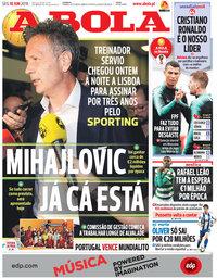 capa Jornal A Bola de 18 junho 2018