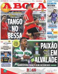capa Jornal A Bola de 19 agosto 2018