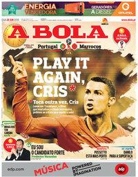 capa Jornal A Bola de 20 junho 2018