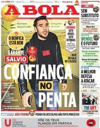 capa Jornal A Bola de 21 março 2018