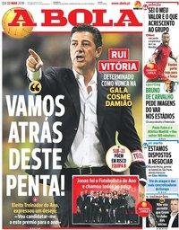 capa Jornal A Bola de 22 março 2018