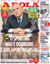 capa Jornal A Bola de 22 junho 2018