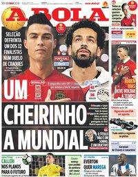 capa Jornal A Bola de 23 março 2018