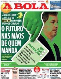 capa Jornal A Bola de 23 junho 2018