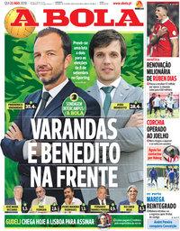 capa Jornal A Bola de 23 agosto 2018