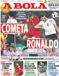 capa Jornal A Bola de 24 março 2018