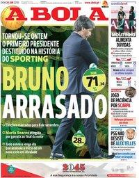 capa Jornal A Bola de 24 junho 2018