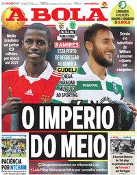 capa Jornal A Bola de 24 agosto 2018
