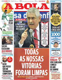 capa Jornal A Bola de 25 março 2018