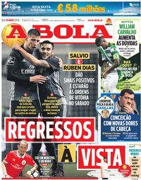 capa Jornal A Bola de 29 março 2018