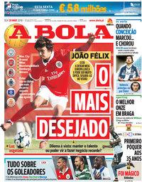 capa Jornal A Bola de 30 março 2018