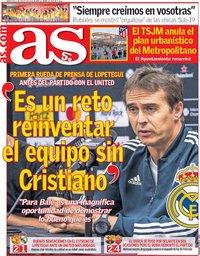 capa Jornal As de 1 agosto 2018