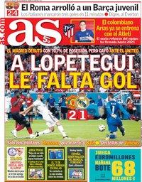 capa Jornal As de 2 agosto 2018