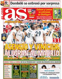 capa Jornal As de 5 agosto 2018