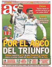 capa Jornal As de 7 março 2018