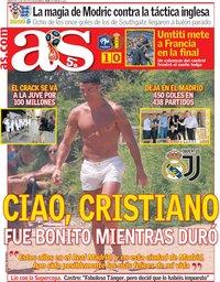 capa Jornal As de 11 julho 2018