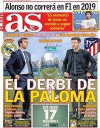 capa Jornal As de 15 agosto 2018