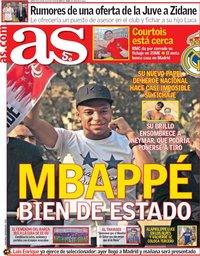 capa Jornal As de 18 julho 2018