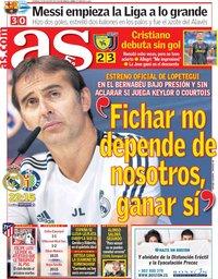 capa Jornal As de 19 agosto 2018