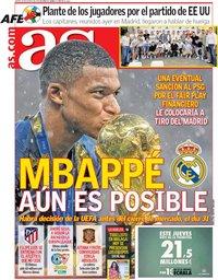 capa Jornal As de 23 agosto 2018