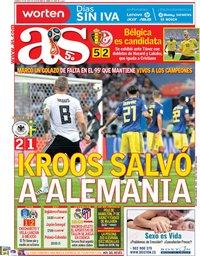 capa Jornal As de 24 junho 2018