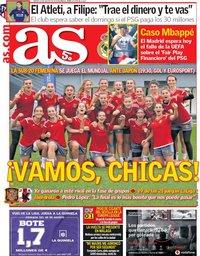 capa Jornal As de 24 agosto 2018