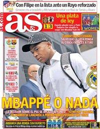capa Jornal As de 25 agosto 2018